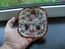 Antique / Vintage Chinese / Japanese Small Square Plate, Hand Painted, Back-Mark