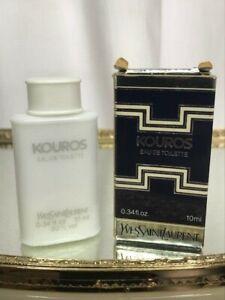 Kouros YSL edt 10 ml Rare vintage first edition. Sealed/full