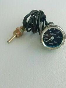 Smiths replica water temperature gauge for classic cars 80 -200 farenheit