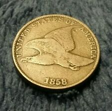 1858 Flying Eagle LL One Cent -XTRA NICE- US Coin lots of detail look at pics!!