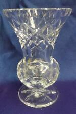 RETRO VINTAGE BOHEMIA 24% LEAD CRYSTAL SMALL VASE BALL BASE CZECH REP
