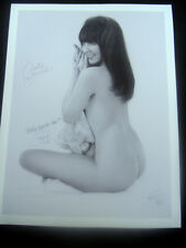 "Jon Hul Claire Sinclair On A Claire Day B&W Signed Paper Giclee 18""x24"" 2/95"