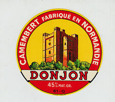 Ancienne étiquette Fromage Camembert   Normandie   Donjon