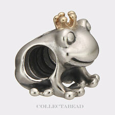 Authentic Pandora Sterling Silver & 14K Gold Frog Prince Bead 791118