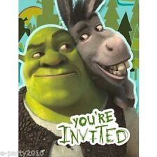SHREK FOREVER AFTER INVITATIONS (8) ~ Birthday Party Supplies Dreamworks Invites