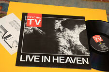 PSYCHIC TV LP EN VIVO IN HEAVEN ORIG UK 1987 EX SUPERIOR AMANTES DE LA MÚSICA