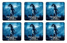 "RESIDENT EVIL APOCALYPSE COASTERS 1/4"" BAR SET OF 6"