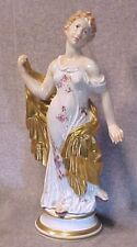 Antique Early 1800s Capodimonte Porcelain Woman Lady Statue