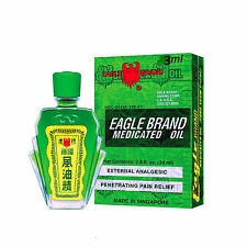 x3 Eagle Brand Medicated Oil Relief Pain Dizziness 3 ml.