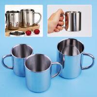 Edelstahl Becher Doppelte Isolier Becher mit Griff Bier Tee Kaffeetassen Mug Cup