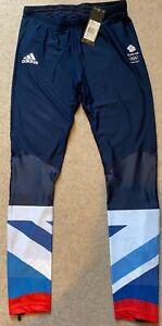 Adidas Team GB London 2012 Olympics Men's Long Running Tights Size Medium BNWT