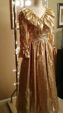Antique gold gown size 12 by Lariche made in England