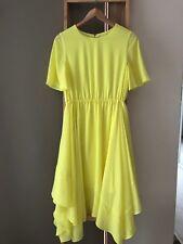 Gorgeous WITCHERY Citron Yellow Flowy Midi Sun Dress Size 8 S EUC