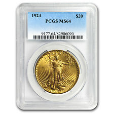 1924 $20 Saint-Gaudens Gold Double Eagle MS-64 PCGS