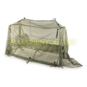 LARGE US Military Mosquito Insect Net Mosquito Field Bar Netting Cot Tent GC