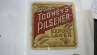 OLD AUSTRALIAN BEER LABEL, TOOHEYS SYDNEY EXPORT PILSENER 1960s 2