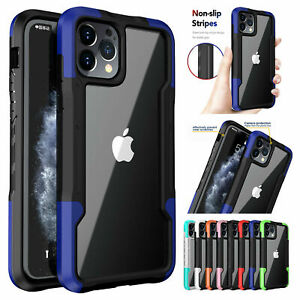 Hybrid Case For iPhone 12 11 Pro Max XS XR 8+ SE2 Shockproof Rubber Clear Cover
