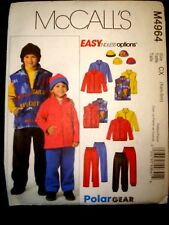 McCall's  4234 Jacket Vest Hat Fleece or Stretch Knit New SZ  Med-Lg-XLlg (7-16)