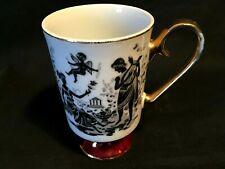 Romance Arnart 5th Ave Gold Trimmed White Ceramic Mug Hellenic Greek Motif 2481