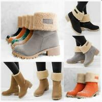 Women's Suede Snow Boots Winter Thick Fur Lined Casual Warm Ankle/Mid Calf Shoes