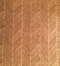 GROUNDWORKS Woodblock Twill mocha woven acrylic outdoor Remnant New $40.