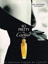 PUBLICITE ADVERTISING 025  1995  SO PRETTY   le nouveau parfum de CARTIER