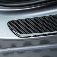 Car Door Sill Carbon Fiber Scuff Plate Cover Panel Step Protector Universal x2