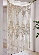 Flber Macrame Curtain Large Wall Hanging Bohemian Wedding Decor, 50