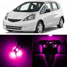 8 x Pink LED Lights Interior Package For Honda FIT 2007 - 2013 + Pry TOOL