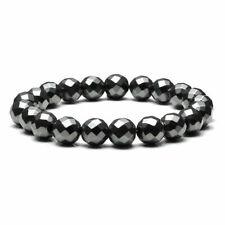 Beads Elastic Wristband Bracelet Jewelry Women's Men's Black Magnet 10mm Round