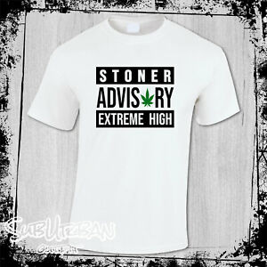 Stoner Advisory Extreme High Cannabis CBD Men's T-Shirt Weed Smoke Marijuana