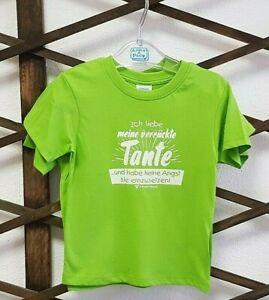 T-Shirt Junge grün Baby & Kinder bedruckt Spruch weiß Geschenk