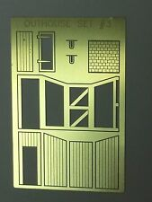 NEW  N Scale Outhouse Model  USA  PE Brass AMP OUTHOUSE SET#3   w/exterior frame