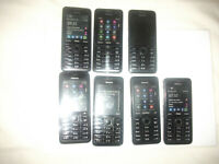 14 Nokia Asha 301 -Black (6 LOCKED TO PORTUGAL OPTIMUS & 1 SWISSCOM & WORKING )