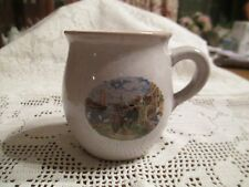 Royal - Vintage 1984 -  Pottery Mug - Hand-decorated Scene - Made in Holland