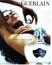 PUBLICITE ADVERTISING  016  2008  GUERLAIN  parfum Eau de Shalimar