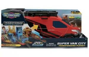 Micro Machines Super Van City Transforming Playset - NEW