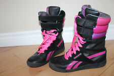 REEBOK SNOWSICLE Black Purple Pink BOOTS ** Size 5 80's LOOK J01962 / RARE L@@K