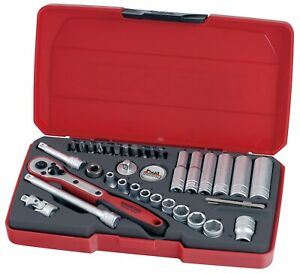 "Teng Tools T1436 1/4"" Drive 36 Piece Metric Socket Set"