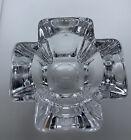 Orrefors Sweden Crystal Glass Cross TeaLight Votive Candle Holder By Anna Ehrner