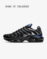 Nike Air Max Plus Black Deep Royal Blue Metallic Cool Men's Trainers All Sizes