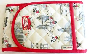 Cath Kidston Disney Mickey in London Double Oven Gloves Mitts Mickey Mouse Red
