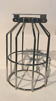 PAIR OF NEW CHROME Wire Cage Industrial Lamp Shade Steampunk sconce pendant