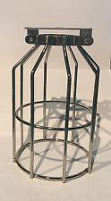 NEW CHROME Wire Cage shade Industrial Lamp Shade Steampunk wall sconce pendant