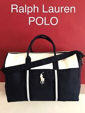 🆕💙RALPH LAUREN POLO Duffle Bag Holdall Blue & White Weekend Holiday Gym💜💜