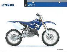 Motorcycle Data Sheet - Yamaha - YZ125 - 2005 (DC539)