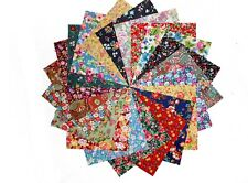 """80 5"""" Quilting Fabric Squares/ Among the Flowers, Florals 2 !!!"""
