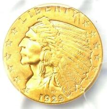 1929 Indian Gold Quarter Eagle $2.50 Coin - PCGS Uncirculated Details (UNC MS)!
