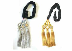 Paranda Parandi Choti Hair Extensions Braid Tassles - Silver and Golden