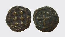 METELINO ED ENOS - FRANCESCO II GATTILUSIO 1396-1400 -MI/ DENARO  RARA !